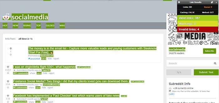 Check My Links chrome extension for social media manager marketer freelancer