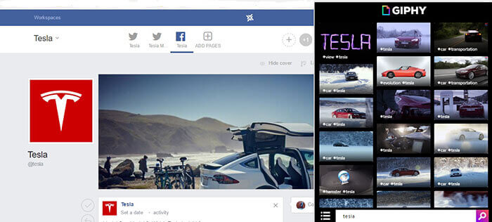 Giphy chrome extension for social media manager marketer freelancer