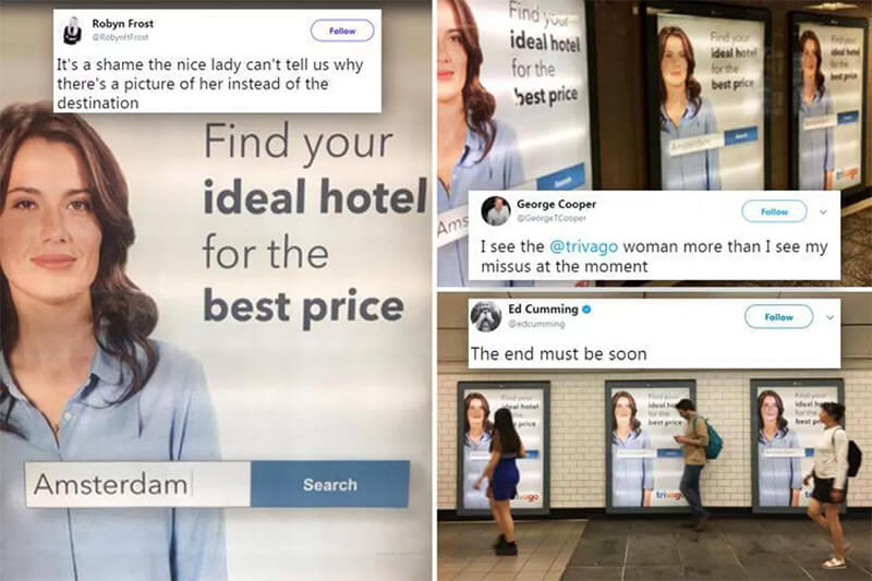 Social Media Year in Review 2017 trivago woman