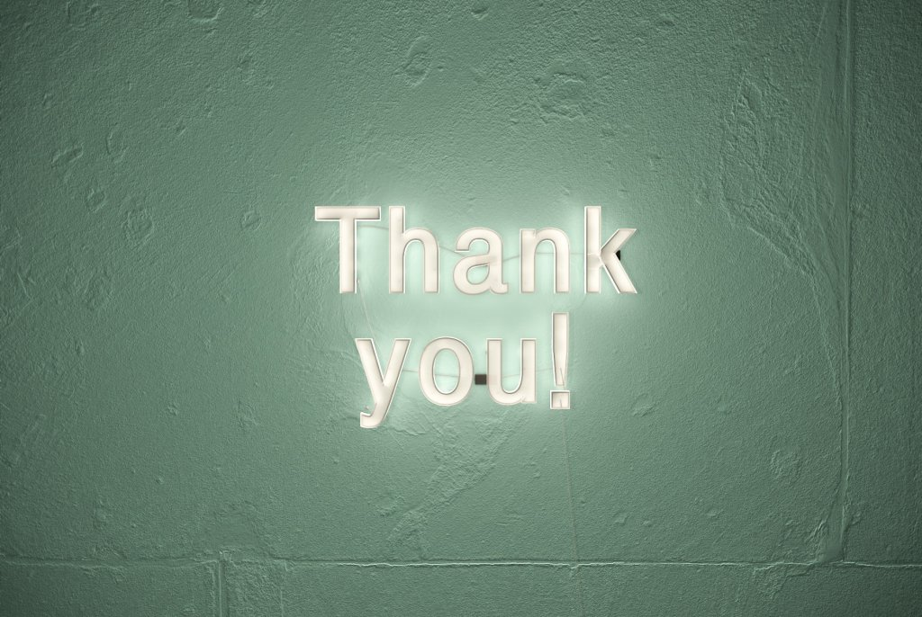 thank you image - social media management distinction