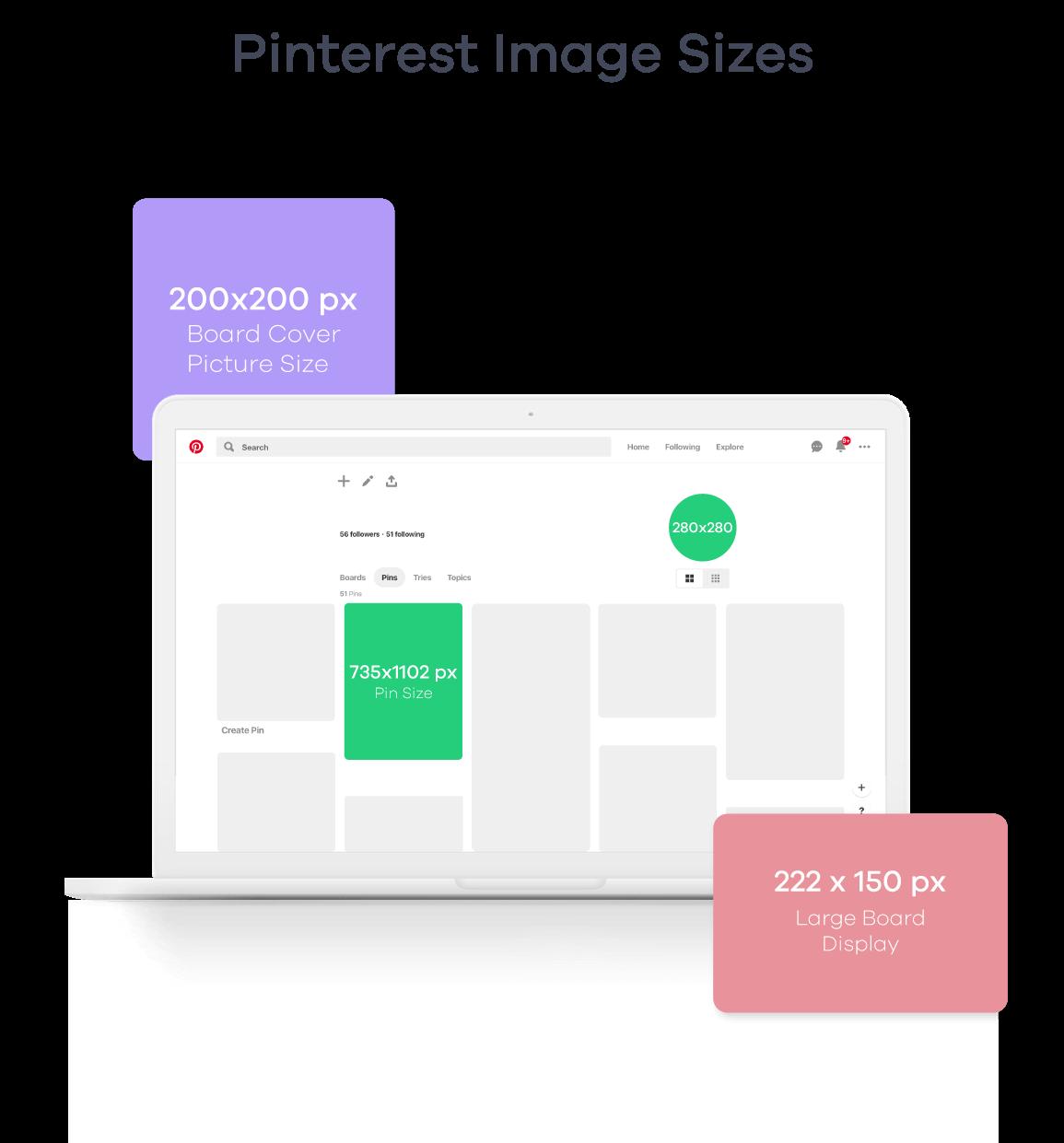 Pinterest Image Sizes 2019