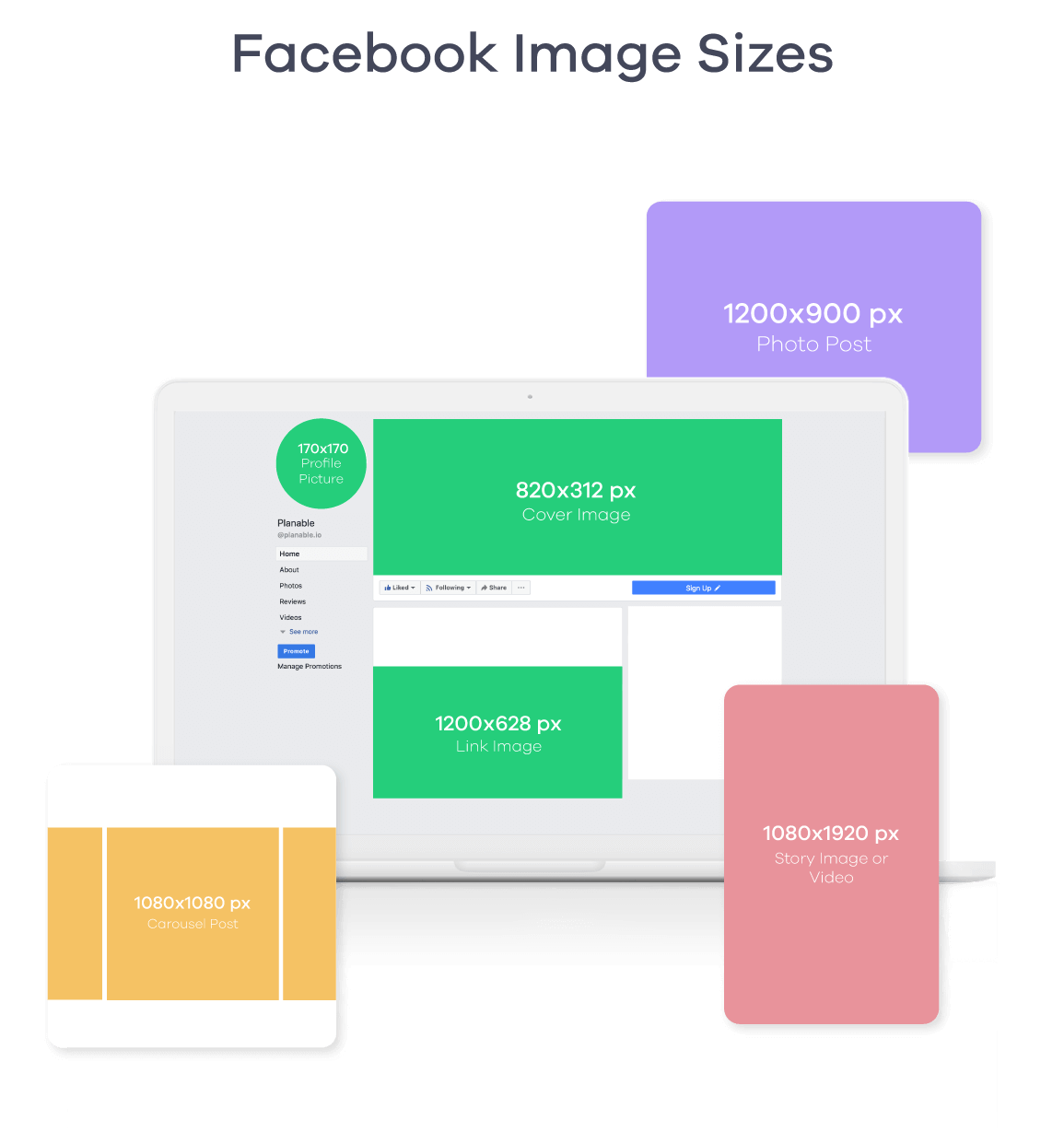 facebook image sizes 2019