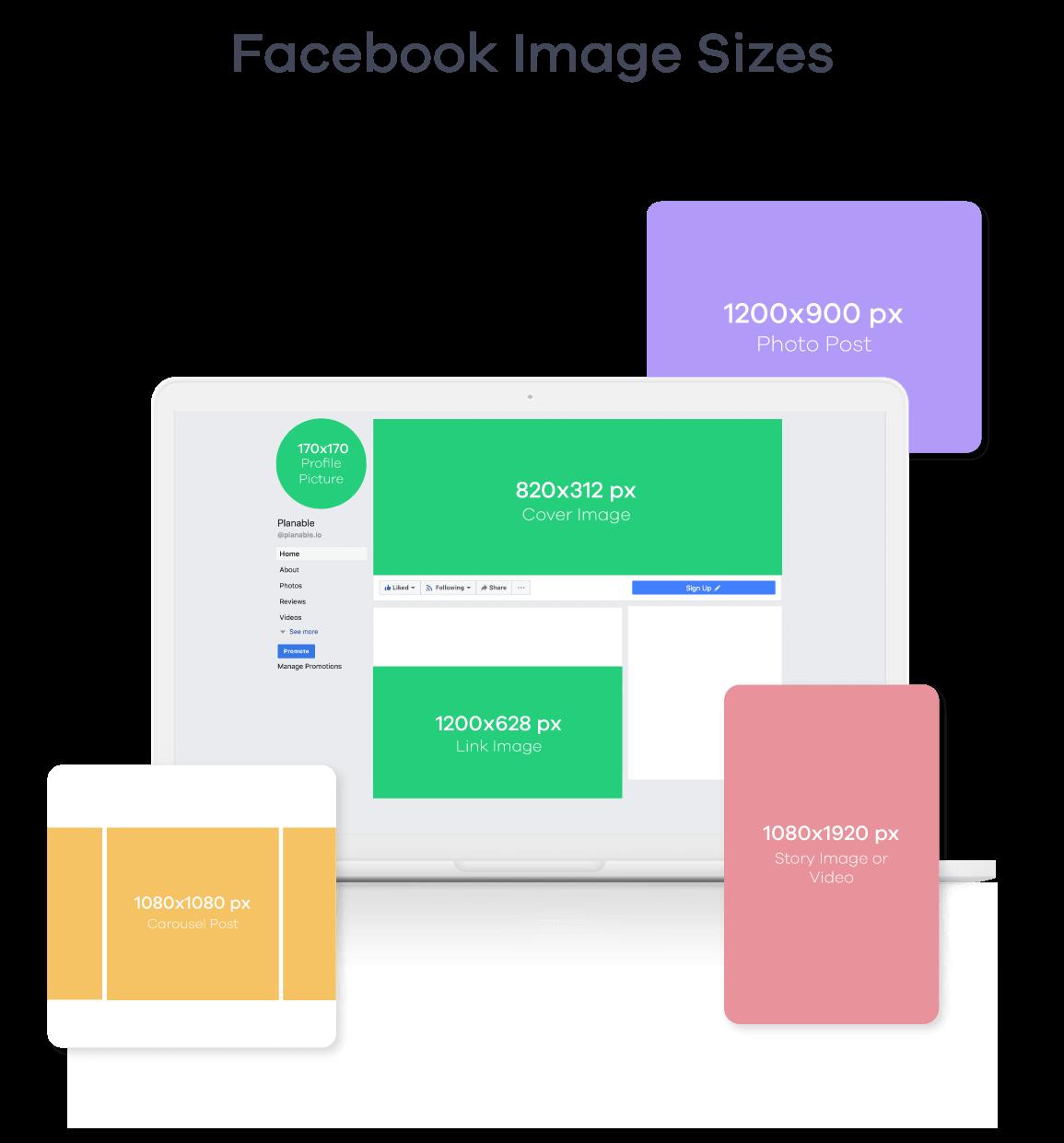 facebook image sizes 2019