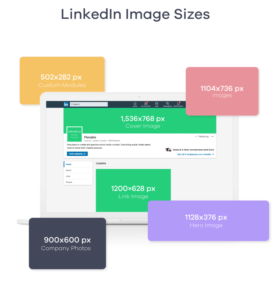 linkedin image sizes 2019