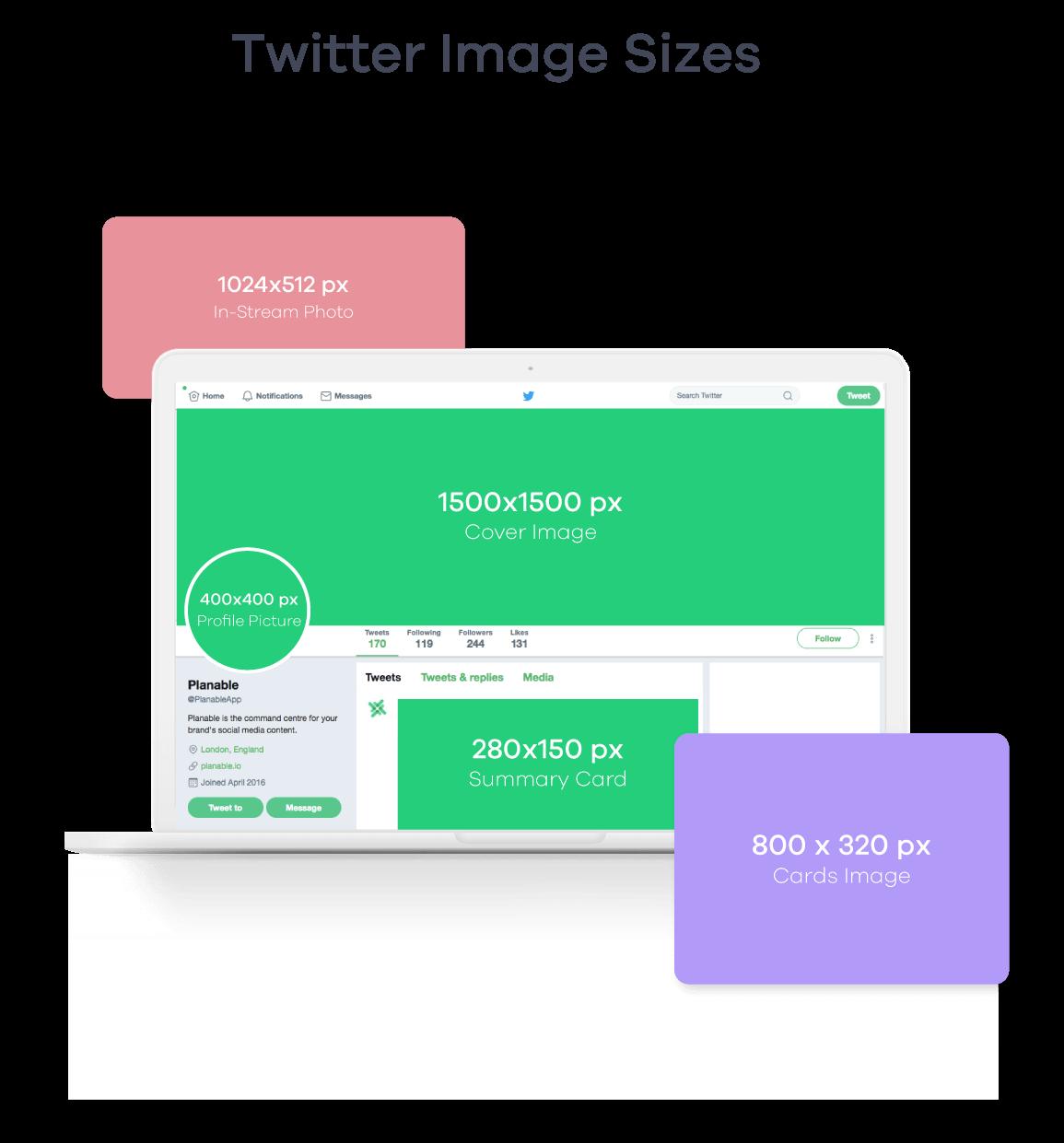 twitter image sizes 2019