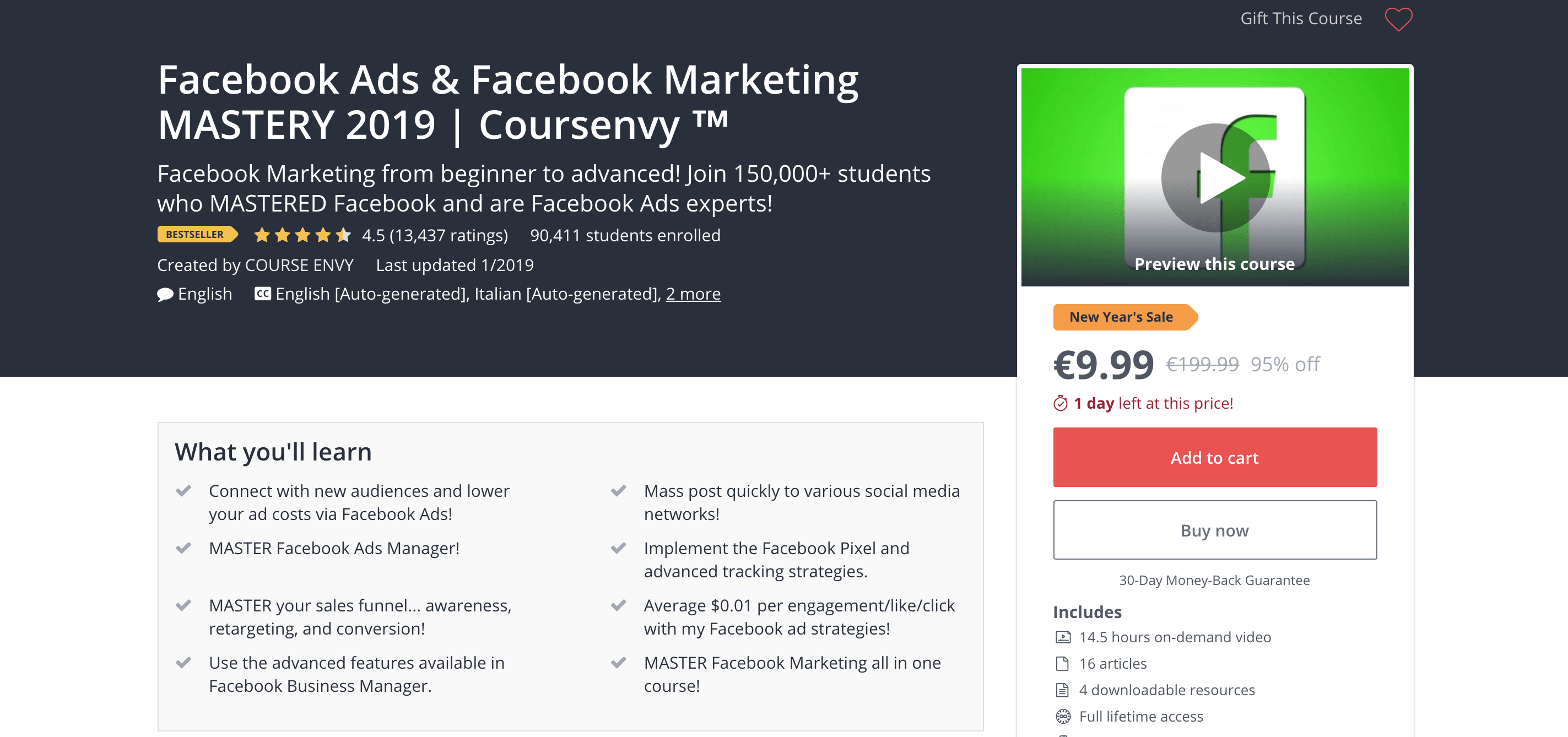 Udemy Facebook Ads and Facebook Marketing Mastery 2019