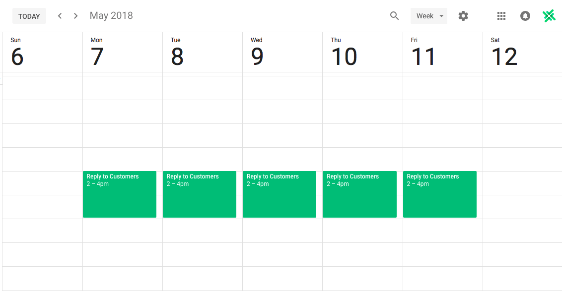calendar planning for productivity