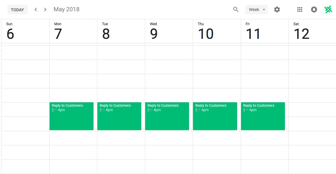 calendar planning for productivity