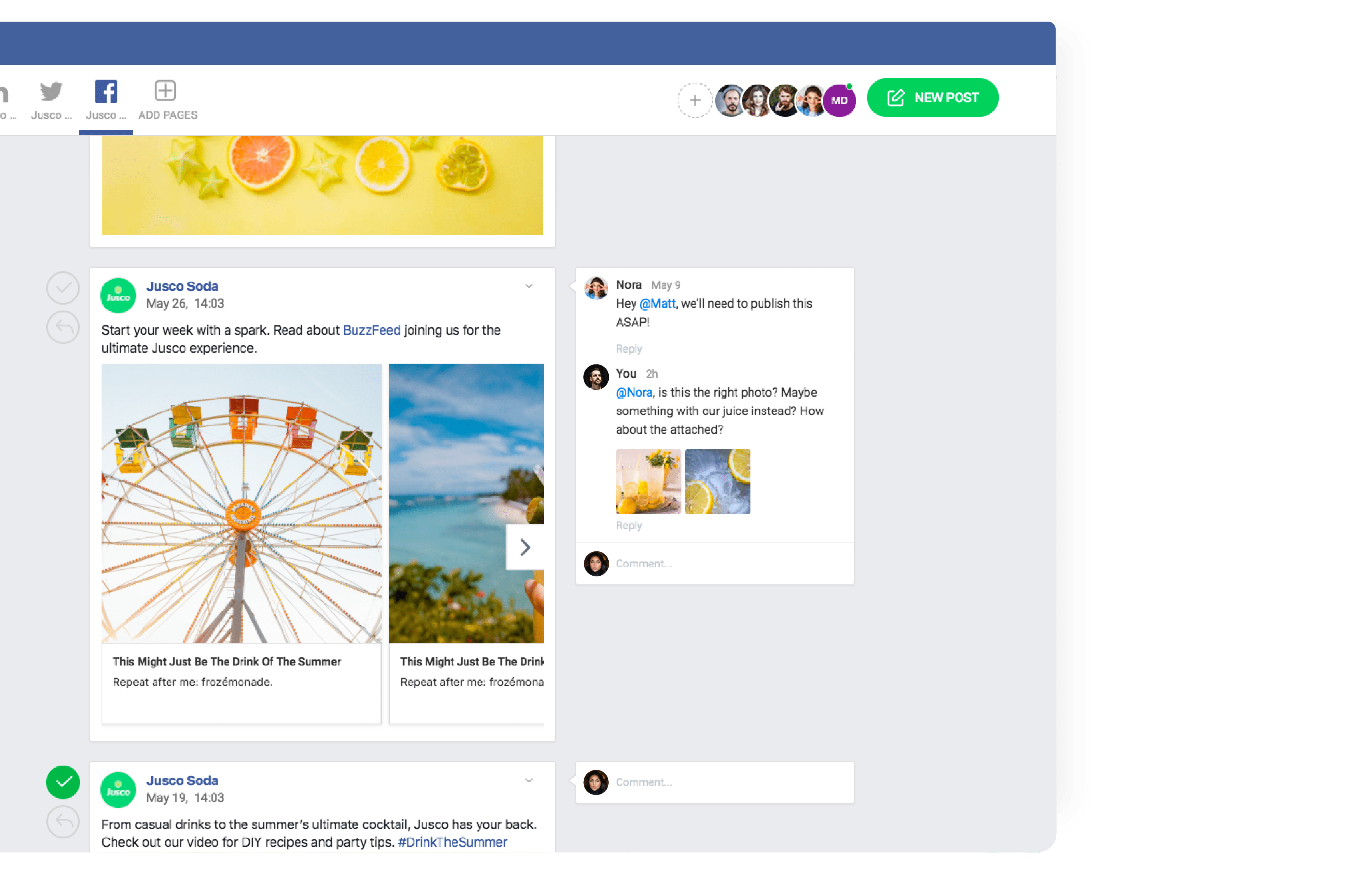 buffer alternative Social media collaboration platform planabale