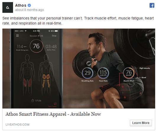 social media post example athos