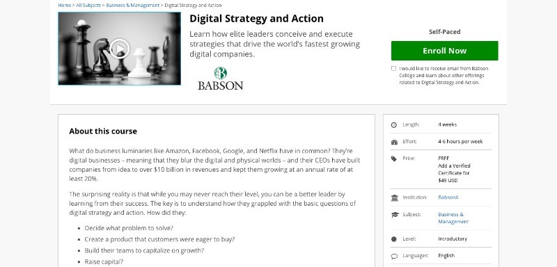 social media courses - digital strategy and action