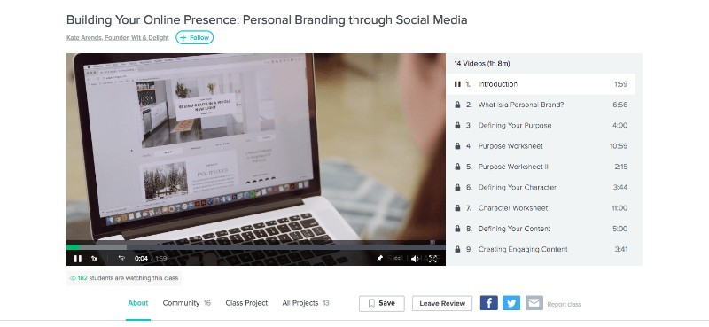 Skillshare Building Your Online Presence: Personal Branding Through Social Media