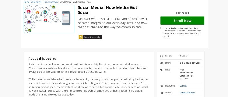 social media courses - social media how to get more attention edx