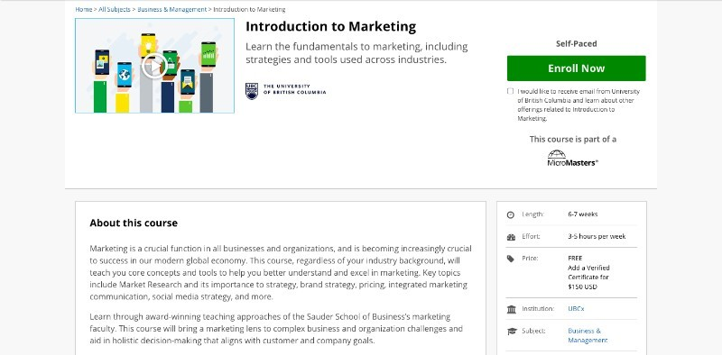 social media courses - introduction in marketing