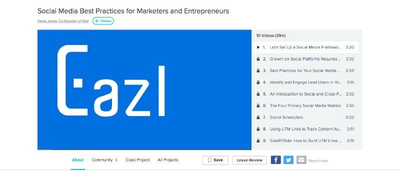 Skillshare Social Media Best Practices for Marketers and Entrepreneurs