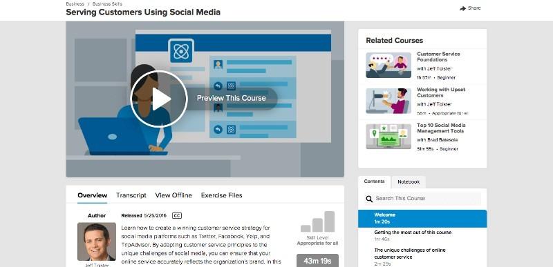 Lynda Serving Customers Using Social Media