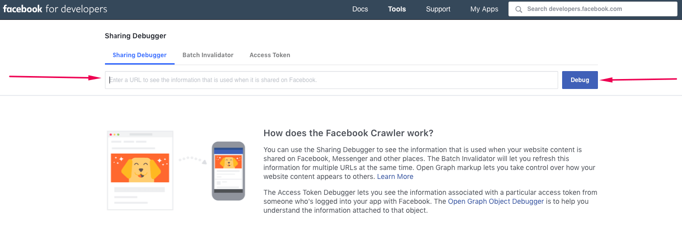 facebook debugger how it works