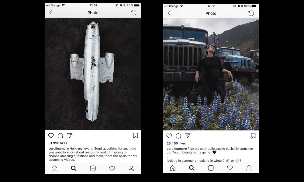 social media for photographers sorelle amore instagram selfies