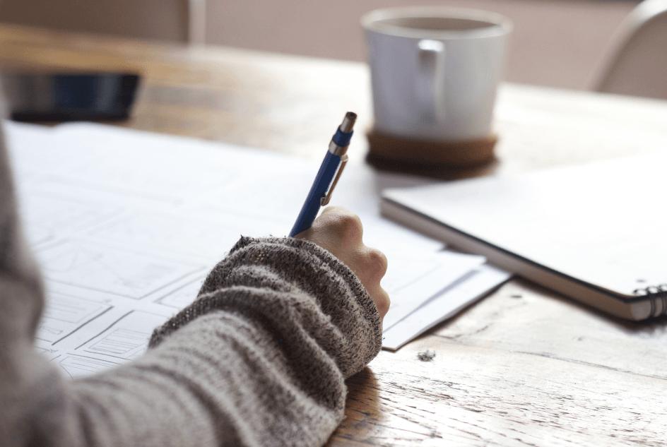 social media proposal template woman writing
