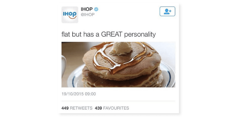 ihop flat but great personality dumb tweets