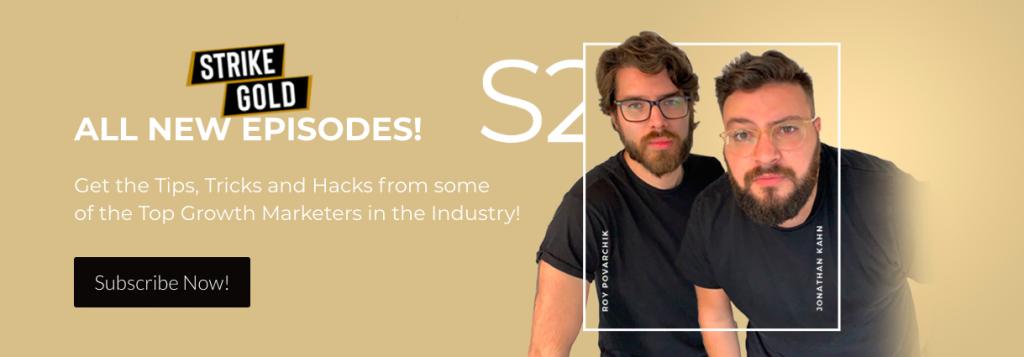 marketing podcast strike gold
