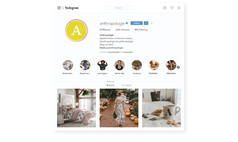 Anthropologie Instagram Trends