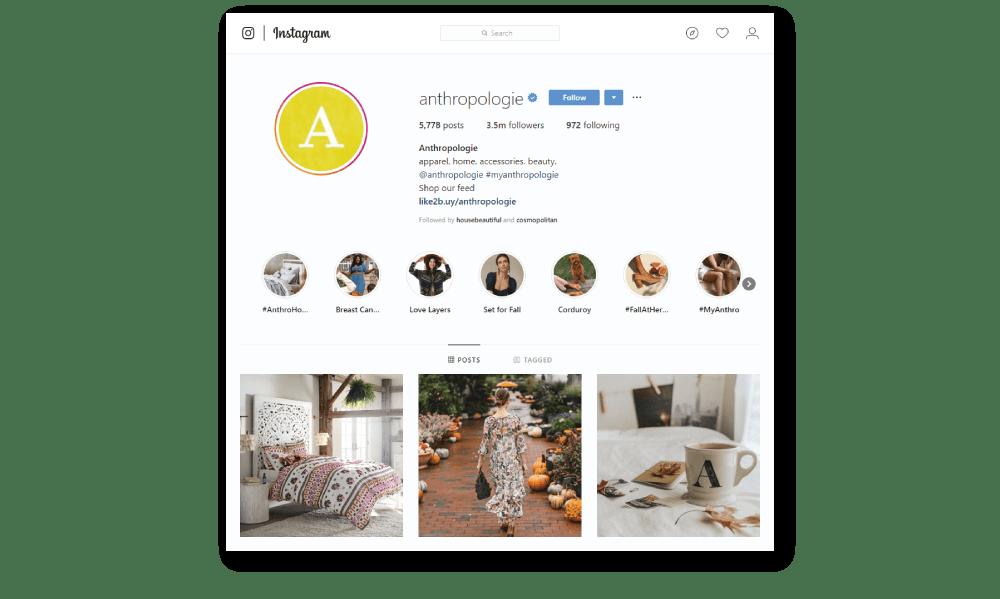 Anthropologie Instagram Trends
