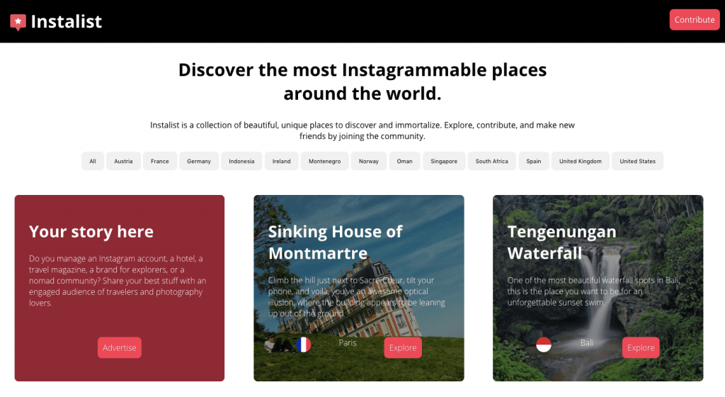 instagram marketing tool instalist discover the most instagrammable places around the world