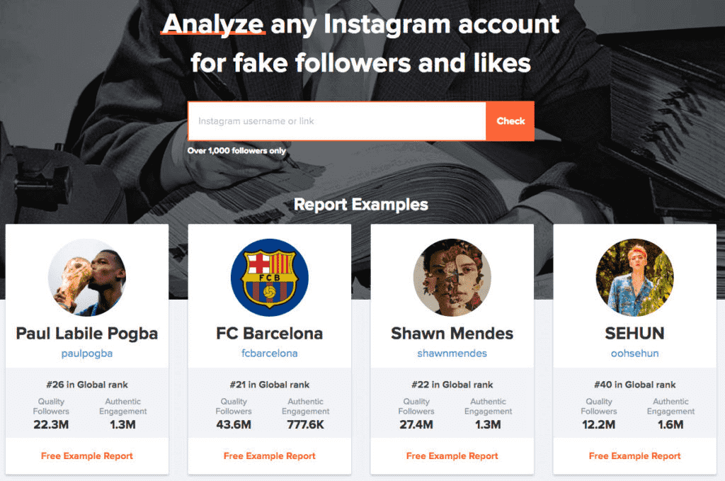 instagram marketing tool hype auditor analyse instagram accounts fake followers fake likes fc barcelona