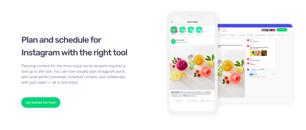 instagram marketing tool planable social media marketing collaboration platform for brand marketers social media managers agencies freelancers publishing and scheduling