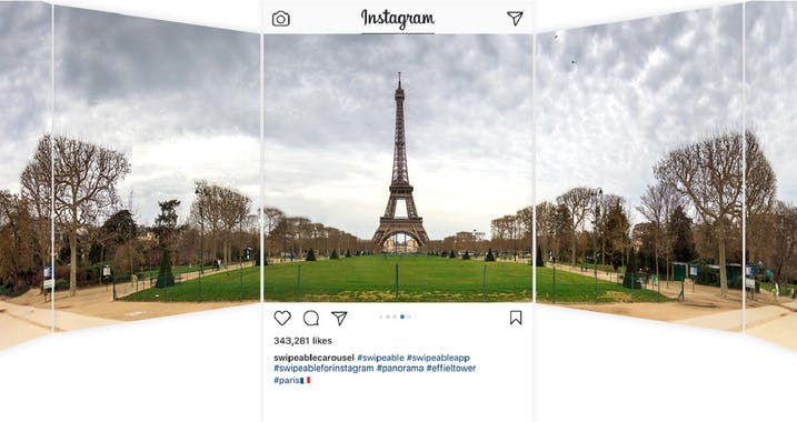 instagram marketing tool multiple photos panorama 360 view