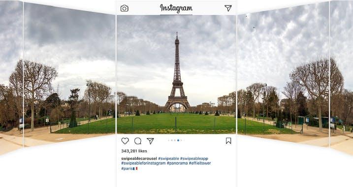 instagram marketing tool multiple photos panorama 360 view