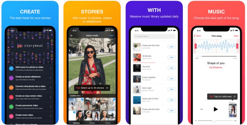 instagram marketing tool storybeat add music to your insta stories music library best part of the song add music to photos, videos or slideshows best tools for your stories