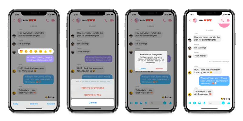 "november social media industry news Facebook Finally Lets You ""Unsend"" Messages In Messenger"