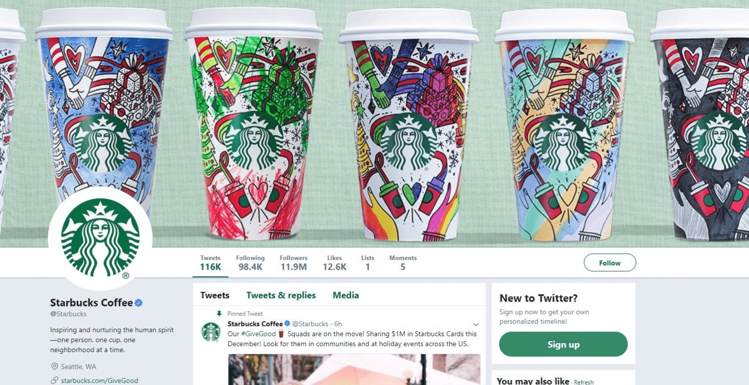 best social media campaigns starbucks christmas cover