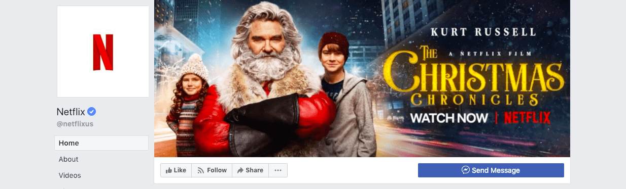 best social media campaigns netflix christmas cover