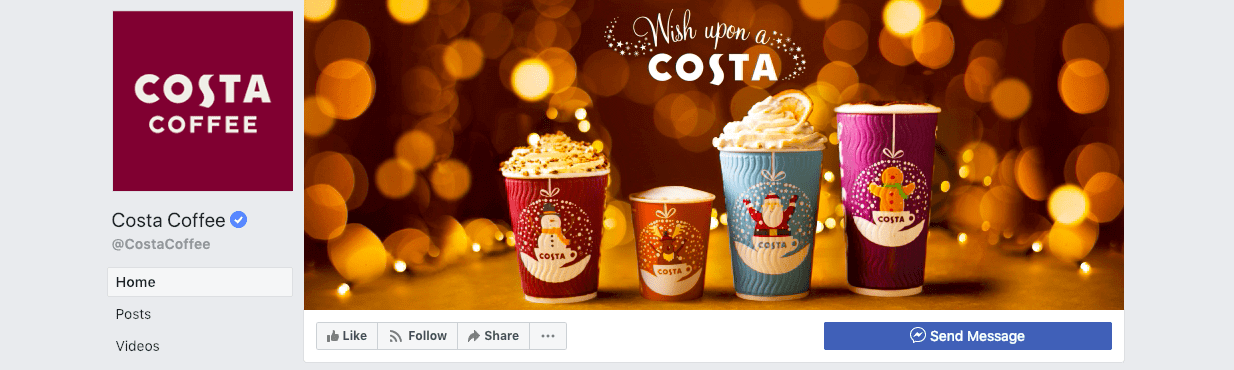 best social media campaigns costa coffee christmas cover