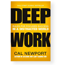 Deep Work by Cal Newport book cover
