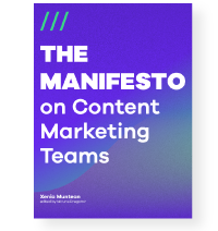 The Manifesto on Content Marketing Teams book cover