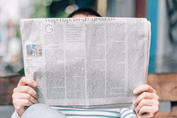 marketing industry news january 2019 man with newspaper