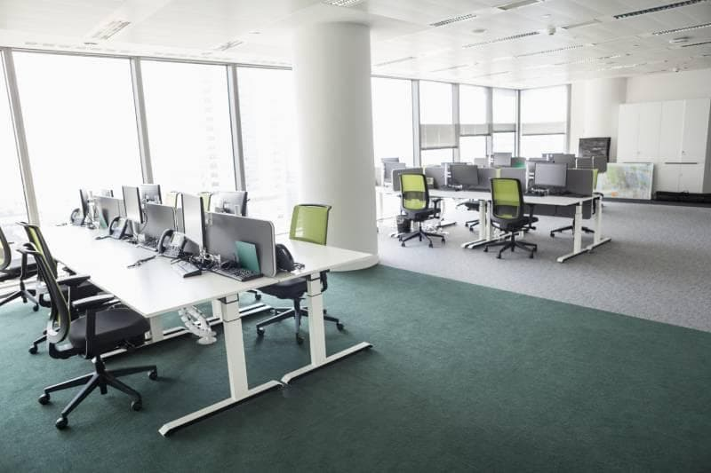 office green chairs open space business social culture