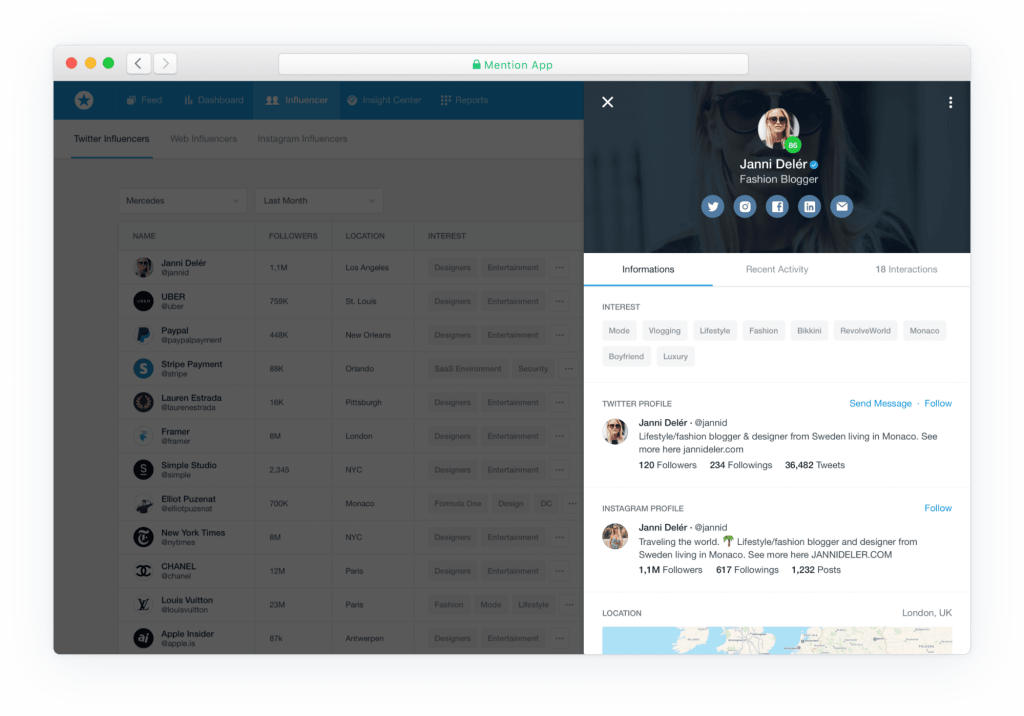 mention influencer discovery tools