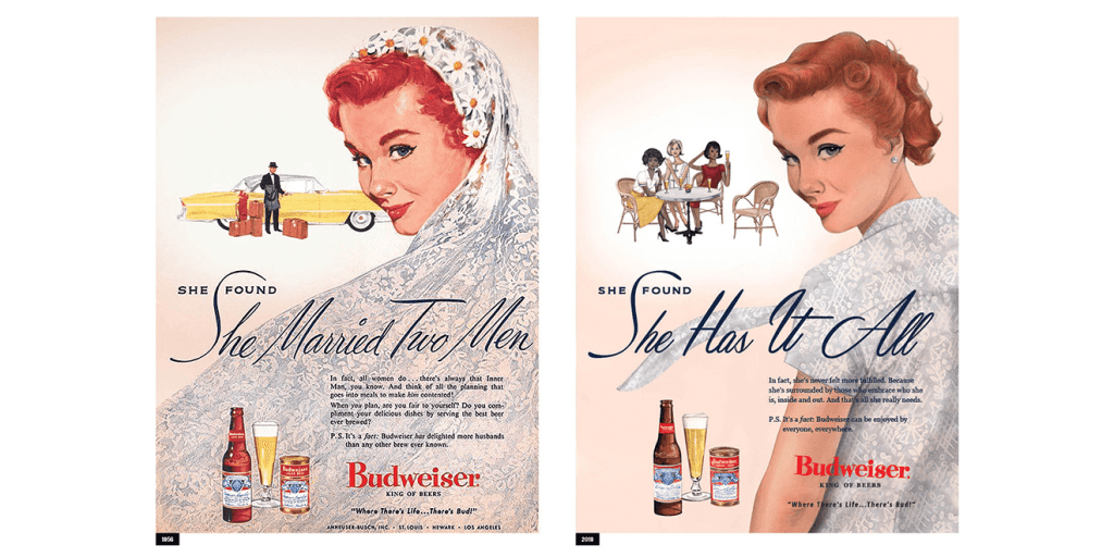 For Women's Day, Budweiser Revived and Reimagined Three of Its Ads From the 1950s #SeeHer