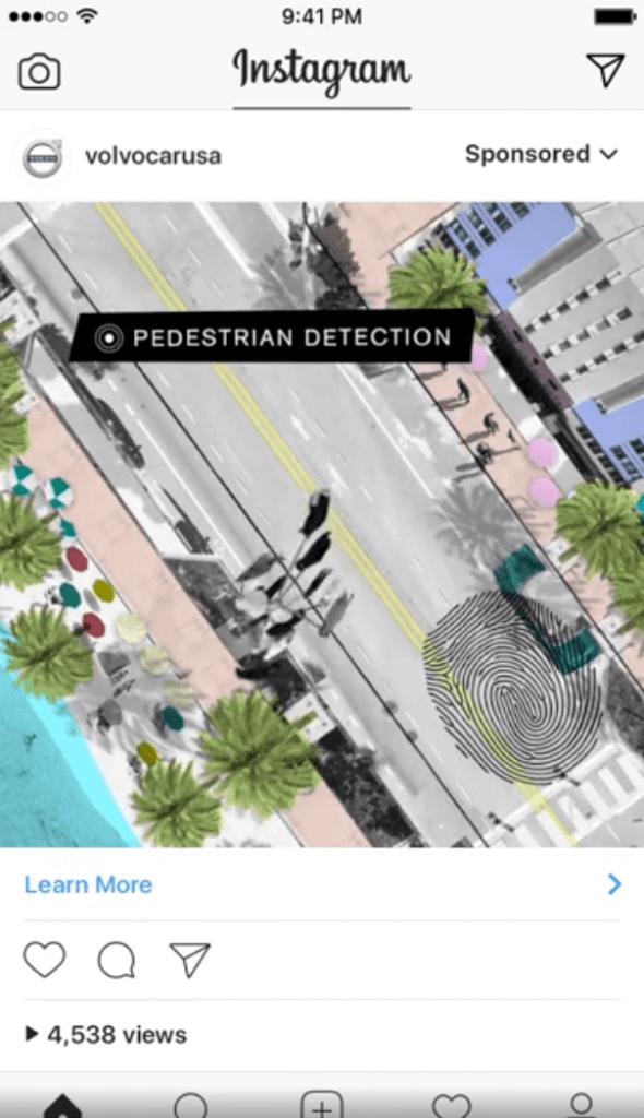 fingerprint ad at volvo on instagram dynamic ad