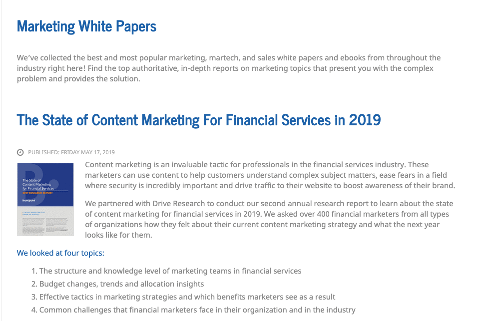martech whitepapers example of marketing collateral