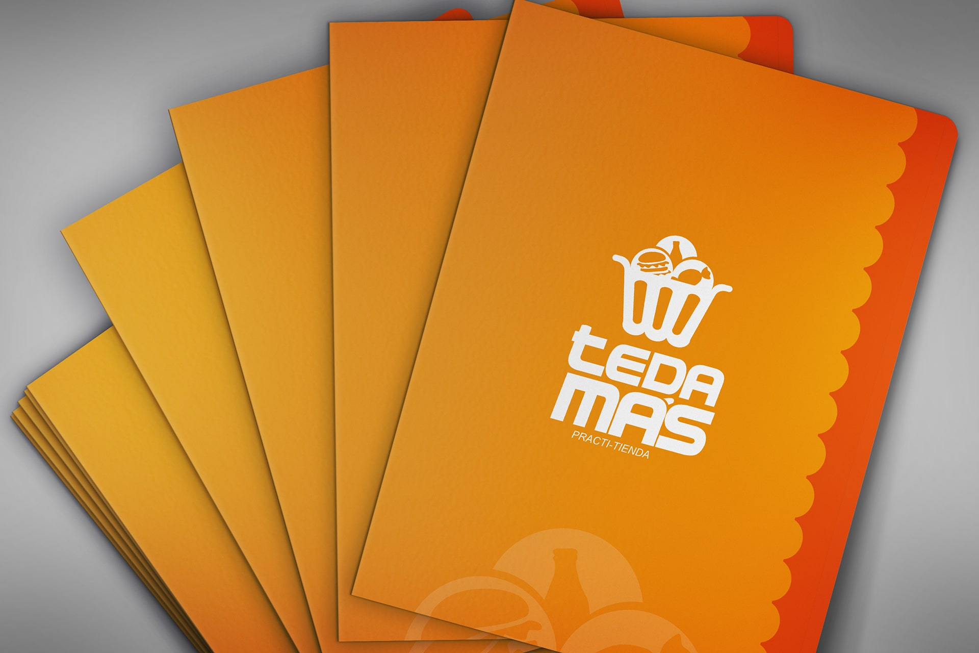 company folders flyers marketing collateral examples