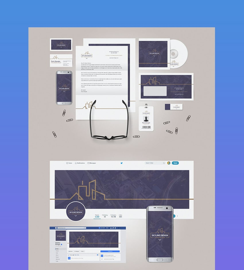 example brand identity pack marketing collateral example
