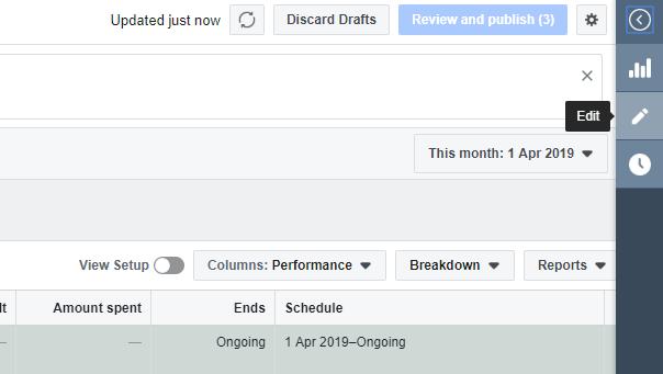 edit campaign facebook ads manager instagram dynamic ads