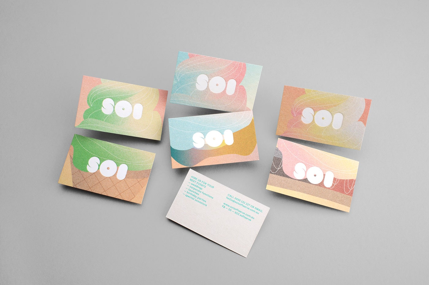 business cards marketing collateral example