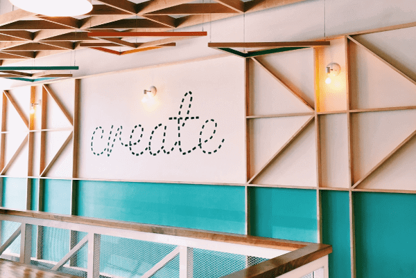 branded content - create writing on a wall with wood